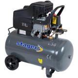 Cumpara ieftin Compresor aer Stager Hm2050B/50L, 2 CP, 200 l/min, 8 bar