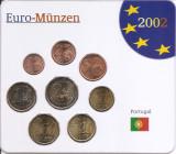 Portugalia Set 8 - 1, 2, 5, 10, 20, 50 euro cent, 1, 2 euro 2002 - UNC !!!