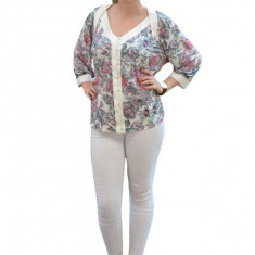 Bluza clasica eleganta, maneca trei-sferturi
