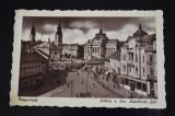 Nagyvarad Oradea - Latkep a Szt. Laszlo-ter fele 1945