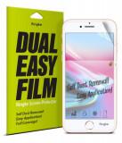 Cumpara ieftin Set 2x Folie iPhone SE 2020 / iPhone 8 / iPhone 7 / iPhone 6S / iPhone 6, Auto-Curatare, Ringke Dual Easy, Transparent