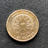 Danemarca 20 coroane 2020 UNC 80th Birthday Queen