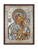 Icoana Maica Domnului Amolyntos 10X13cm Argintiu/Auriu Cod Produs 2532