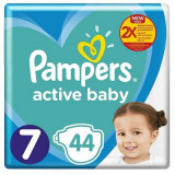 Pampers Nr.7 Scutece Active Baby Giant Pack, 13-23 luni, 2-25 kg