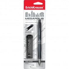 Set creion mecanic Erich Krause Megapolis Concept 0,5mm + mine rezervă