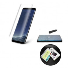 Folie Sticla Tempered Glass Samsung Galaxy Note 9 n960 UV Full Glue Clear Gel UV
