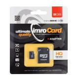 Card Imro microSD HC 8GB clasa 4 cu adaptor SD