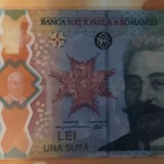 Bancnotă de 100 de lei Desăvârșirea Marii Uniri - I.C Brătianu.