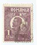 *Romania, LP 72/1929, Ferdinand - uzuale, 1 leu violet, eroare 6, oblit., Stampilat