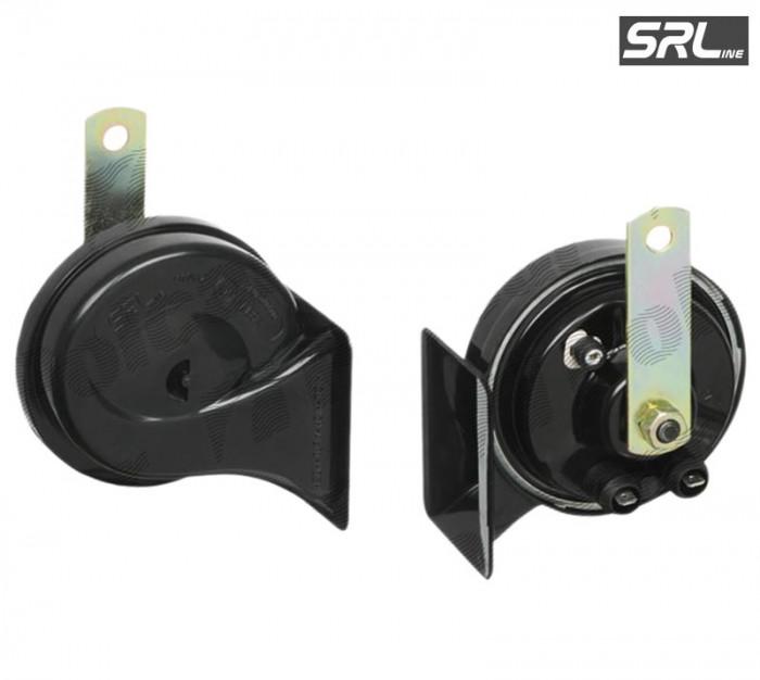 Claxon auto SRLine 12V/510Hz , conectori 2x(6,3-0,8) , tip goarna , 1 buc.