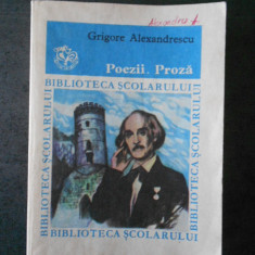 GRIGORE ALEXANDRESCU - POEZII. PROZA