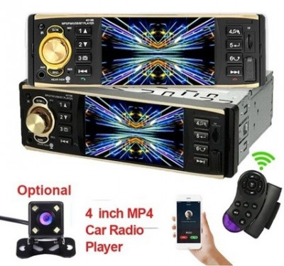 Mp5 player de masina cu LCD, Bluetooth, controller, player video, 4x45W, 1DIN foto