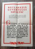 Afis propaganda 40x30 cm Declaratia guvernului sovietic
