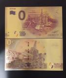 RUSIA  - 0 EURO 2018 FANTASY - BANCNOTA POLYMER (PLASTIC) PLACATA CU AUR 24K
