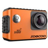 Cumpara ieftin Camera Video Sport 4K iUni Dare S100 Orange, WiFi, GPS, mini HDMI, LCD 2 inch, by Soocoo