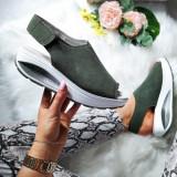 Sandale dama Piele Codina verde inchis cu talpa ortopedica -rl