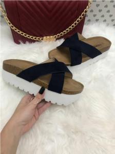 Papuci dama bleumarin cu platforma marime  39+ CADOU