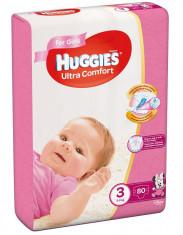 Scutece Huggies Ultra Confort Mega Pack 3, Fete, 5?9 kg, 80 buc foto
