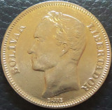 Moneda 2 (DOS) BOLIVARES - VENEZUELA, anul 1989 *cod 2340, America Centrala si de Sud