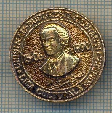 Y 889 INSIGNA -MIHAI EMINESCU-LIGA CULTURALA ROMANA -CHISINAU-BUCURESTI-CERNAUTI