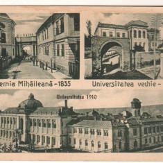 SV * Romania  IASI  1937  * ACADEMIA MIHAILEANA 1835 * UNIVERSITATEA 1860 - 1910, Circulata, Fotografie, Oituz