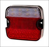 Lampa stop auto Patrata LED 3 functii Marsarier, Lampa ceata