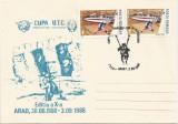 România, Cupa U.T.C., paraşutism - aeronavă, Arad, 1988, plic necirculat
