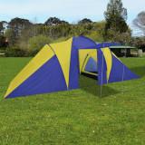Cort camping 6 persoane, Bleumarin/Galben