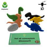 Cumpara ieftin Set de 5 dinozauri, 1 ou de dinozaur, 38 de piese, 4-6 ani