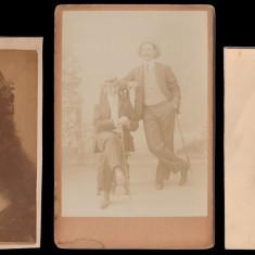 1895-1942 Lot 7 fotografii portret (2 foto cabinet) ateliere vechi romanesti