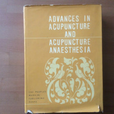 advances in acupuncture and acupuncture anaesthesia carte in limba engleza 1980