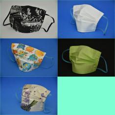 5 Măști de protectie reutilizabile,  bumbac  100%
