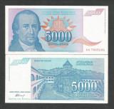 IUGOSLAVIA  5.000  5000  DINARI  DINARA  1994  UNC [1] P - 141 a  ,  necirculata