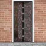 """Perdea anti-tantari pt. usi cu inchidere magnetica, 100 x 210 cm - """"Love"""" Best CarHome"""