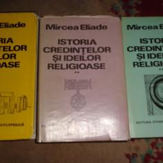 Istoria credintelor si ideilor religioase 3 volume cartonate /1370pagini- Eliade