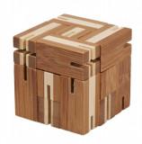 Joc logic puzzle 3D din bambus Flexi-cub