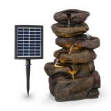 Cumpara ieftin Blumfeldt Savona, fontană solară, 2,8 W, polirezină, 5 ore, baterie, iluminare LED, aspect de piatră