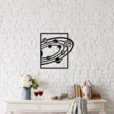 Decoratiune pentru perete, Ocean, metal 100 procente, 47 x 50 cm, 874OCN1033, Negru