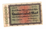 Bancnota Germania - Essen 100000 mark 1923, stare excelenta