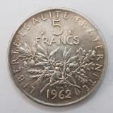5 FRANCI-FRANCS-1962-ARGINT-FRANTA