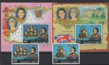 DJIBOUTI 1981 CORABII VAPOARE NAVIGATORI COTA MICHEL 50 EURO, Nestampilat