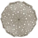 Umbrela pentru carucior 70 cm UV 50+ Stelute Natur Fillikid