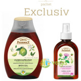 Ulei de Baie cu Bergamota si Lamaie Verde + Elixir din Plante Impotriva Caderii Parului 250ml Pachet 1+1, Green Pharmacy