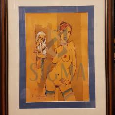 """TABLOU, RADU DARANGA """"INCERCARE DE COLABORARE"""", 2016"""