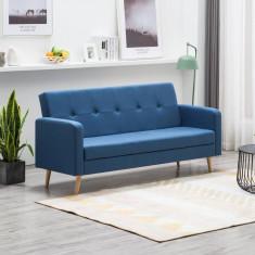 Canapea din material textil albastru