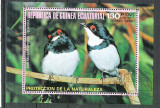 Eq. Guinea 1976 Birds in Europe, perf. sheet, used M.004, Stampilat