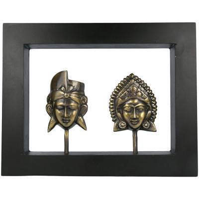 """Tablou """"Metallic Rama-Sita"""" în ramă de lemn, M foto"""