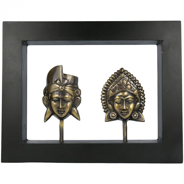 """Tablou """"Metallic Rama-Sita"""" în ramă de lemn, M"""