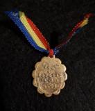 Marturie de botez 1890 - Romania - medalion - medalie