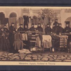 MOLDOVA  MANASTIREA  AGAPIA   ATELIERUL  DE  TRICOTAJ  CALUGARITE